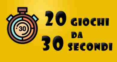 20 mini-giochi impossibili da fare in 30 secondi
